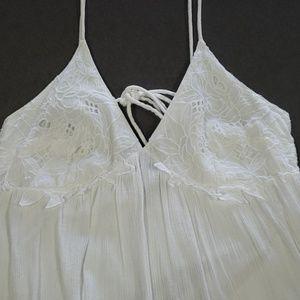 New Topshop White Lace Mini Dress